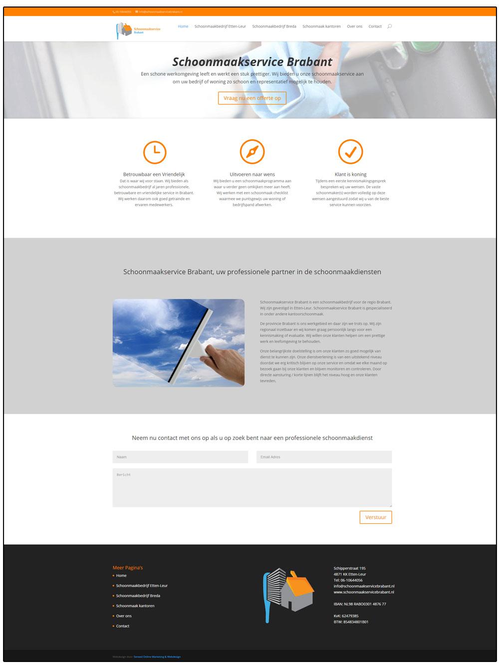 Schoonmaakservicebrabant webdesign