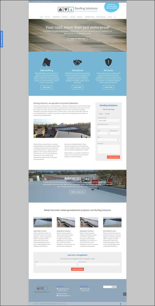 Webdesign Roofing Solutions Dakdekkersbedrijf Tilburg